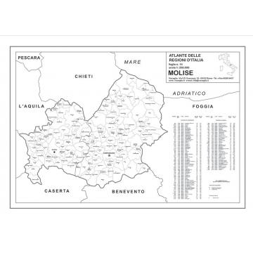 Regione Molise Cartina Geografica.Regione Molise Con Cap