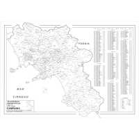 Map of Campania with postal codes