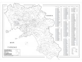 Carta geografica della Regione Campania