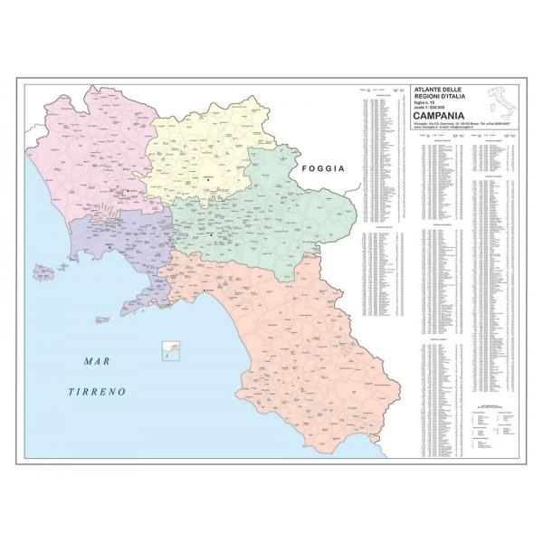 Regione Campania Cartina Geografica.Carta Geografica Della Regione Campania