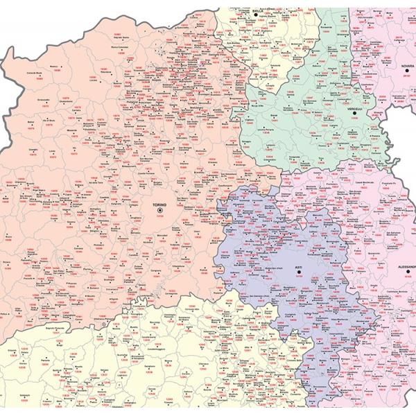 Regione Piemonte Cartina Politica.Regione Piemonte