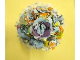 Classic bouquet of flowers with geographical maps