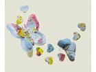 Farfalla decorativa con carta geografica