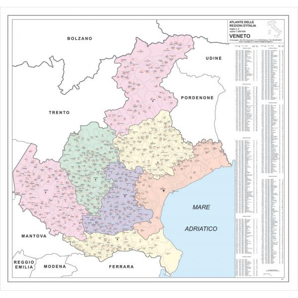 Veneto Regione Cartina.Regione Veneto Con Cap