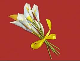 Bouquet di fiori con carte geografiche a fascio