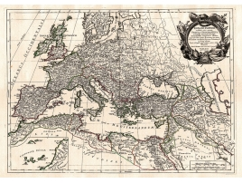 Ancient map of the Roman Empire