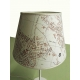 Lampada con carta geografica