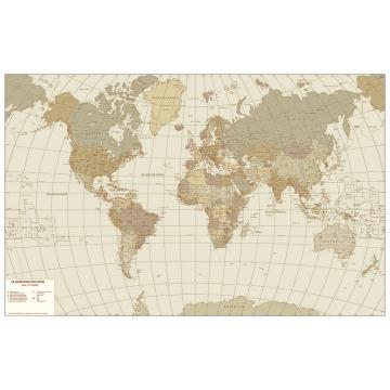 La carta da parati Visceglia, arredare con le carte geografiche