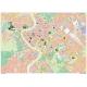 Carta stradale della città di Roma