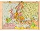 Carta geografica vintage dell'Europa 1940