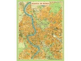 Carta geografica Roma 1950