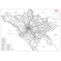 Provincia stradale di Roma in bianco e nero