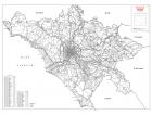 Carta stradale della provincia di Roma