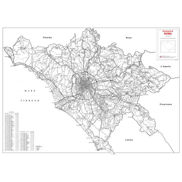 Cartina Roma E Provincia.Provincia Stradale Di Roma