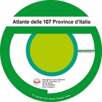 Atlas of 110 provinces of Italy on CD