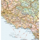 Political road map of northern  Italy
