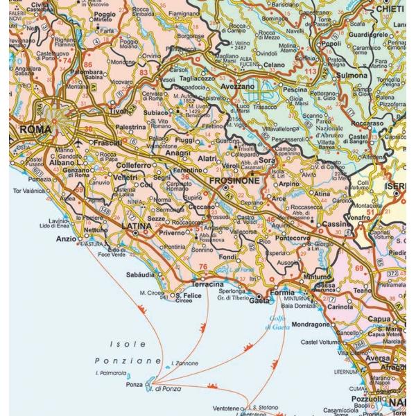 Cartina Geografica Roccaraso.Italia Politico Stradale