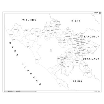 Carta della provincia di Roma