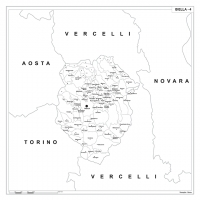 Carta della provincia di Biella