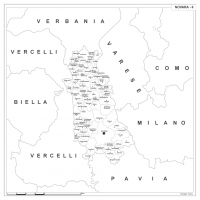 Carta della provincia di Novara