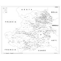 Carta della provincia di Torino