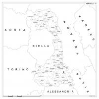 Carta della provincia di Vercelli