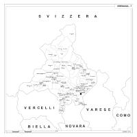 Carta della provincia di Verbania