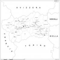 Carta della provincia di Aosta