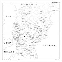 Carta della provincia di Bergamo