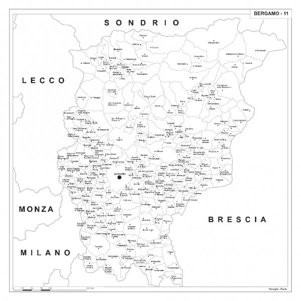 Bergamo Sulla Cartina Geografica.Carta Geografica Provinciale