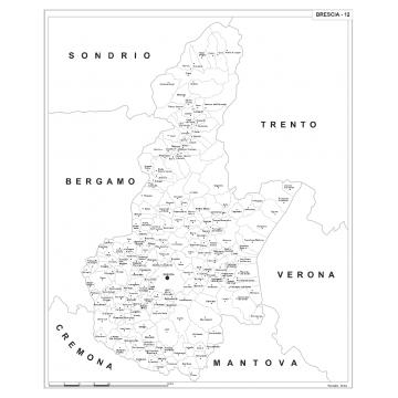 Cartina Italia Brescia.Carta Geografica Provinciale