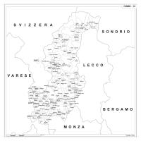 Carta della provincia di Como