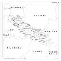 Carta della provincia di Cremona
