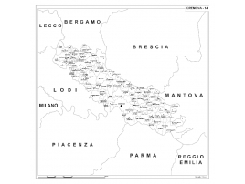 Map of Abruzzo with postal codes