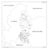 Carta della provincia di Lecco