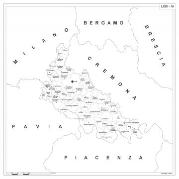 Cartina Geografica Cartina Comuni Della Provincia Di Cremona.Carta Geografica Provinciale