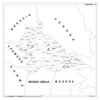Carta della provincia di Mantova