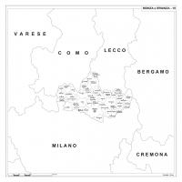 Carta della provincia di Monza e Brianza
