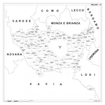 Carta della provincia di Milano