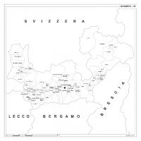 Carta della provincia di Sondrio