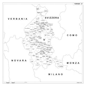 Varese Cartina.Carta Geografica Provinciale