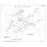 Carta della provincia di Trento