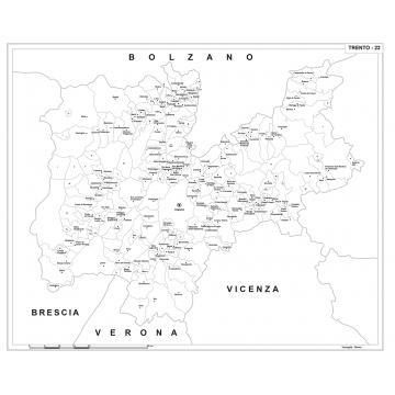 Cartina Geografica Trento.Carta Geografica Provinciale