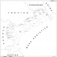 Carta della provincia di Venezia