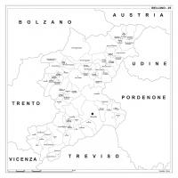 Carta della provincia di Belluno
