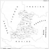 Carta della provincia di Padova