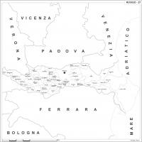 Carta della provincia di Rovigo