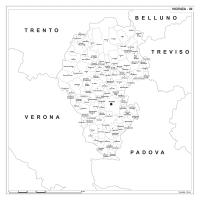 Carta della provincia di Vicenza