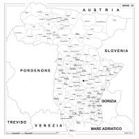 Carta della provincia di Udine