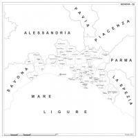 Carta della provincia di Genova